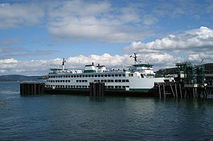 The ferry leaves from Anacortes